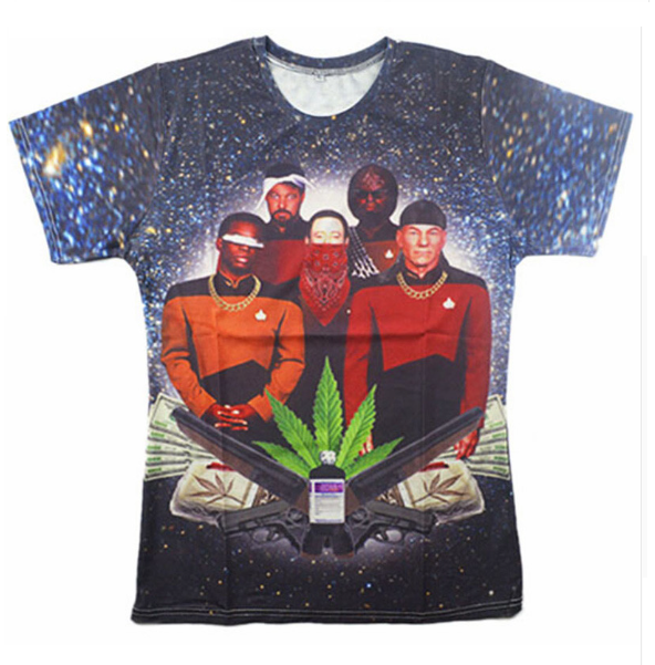 6f6f5e821c8f Star Trek Weed T-Shirt | Fitted Herb